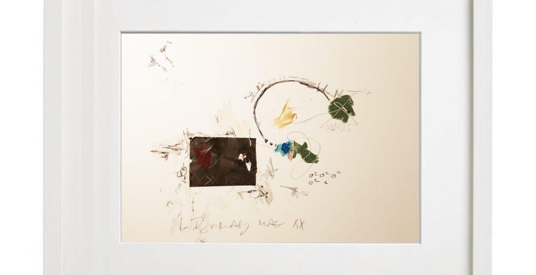 Unikatgrafik H/40, 2020, 30x40cm, Holzrahmen (Weißlack), Glas, Passepartous