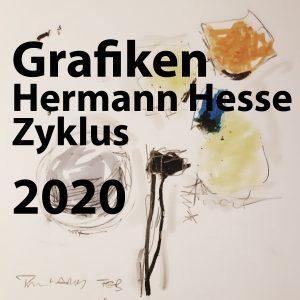Farbzeichnungen Hermann-Hesse-Zyklus, Neu 2020
